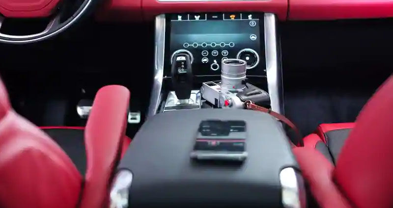 Infotainment system in a car