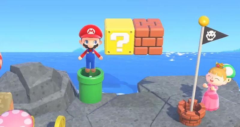 Animal Crossing Mario-themed
