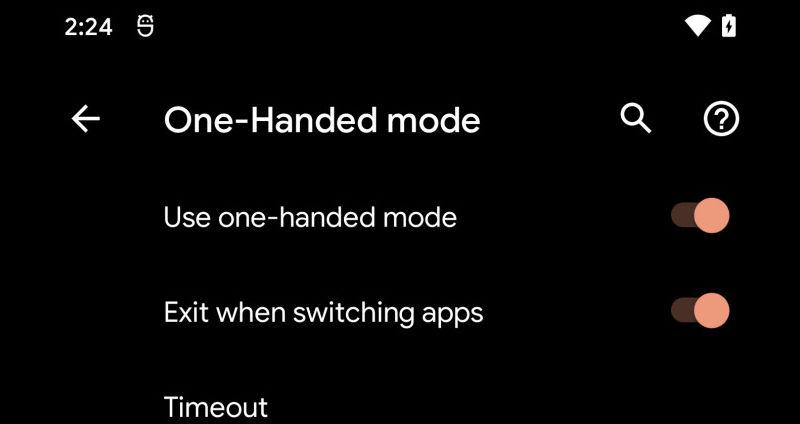 one hand mode