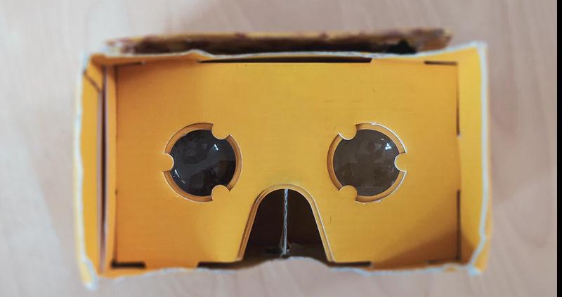 Cardboard VR goggles