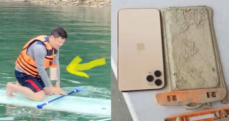 iphone 11 Pro max dropped in a lake