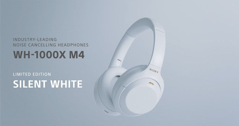 Sony limited-edition WH-1000XM4 headphones in white