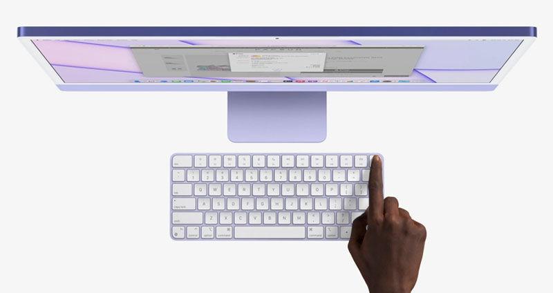 ID touch in magic keyboard