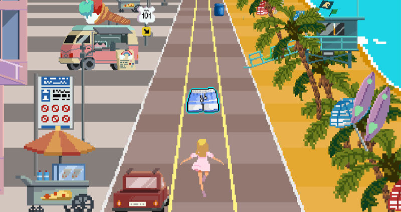 Zara sell clothes using video games