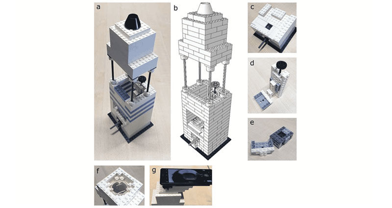 a high-resolution microscope out of Lego bricks