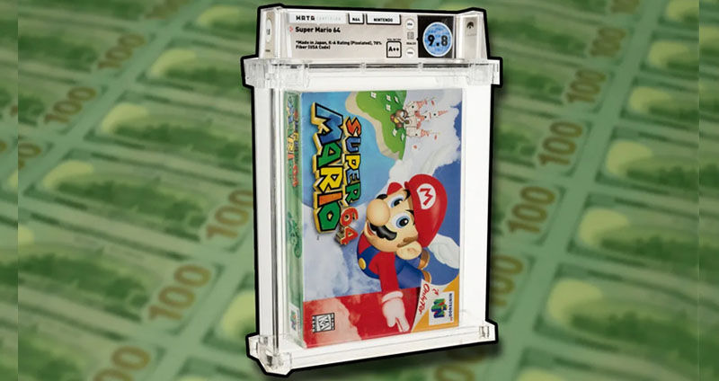 Sealed Super Mario 64 sells for more than 1.5 million dollars