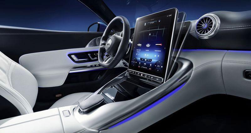 Mercedes-Benz flippy touchscreen