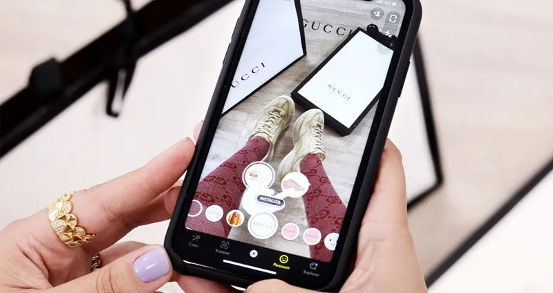 Snap and Gucci recently partnered to let users virtually try on a limited edition pair of shoes